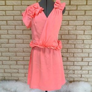 Bensoni Runway Pink Ruffle Dress